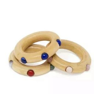 New Anthro Sophie Monet Confetti Stacking Ring